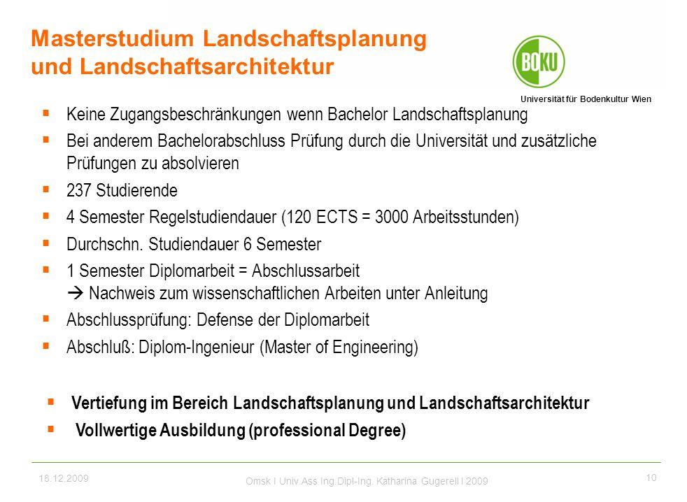 Masterstudium Landschaftsplanung und Landschaftsarchitektur