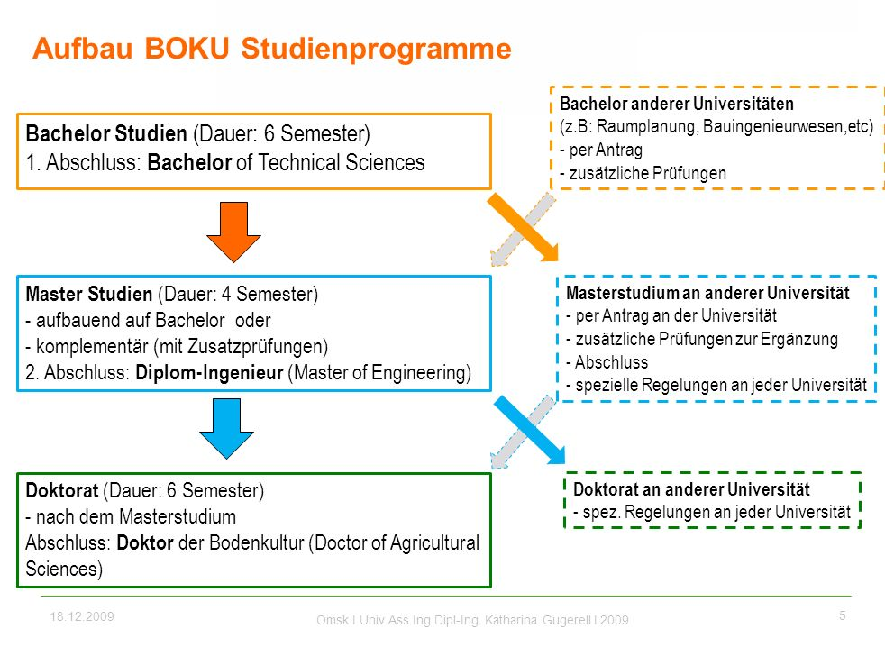 Aufbau BOKU Studienprogramme