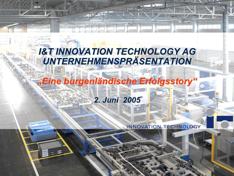 """I&T INNOVATION TECHNOLOGY AG UNTERNEHMENSPRÄSENTATION """"Eine burgenländische Erfolgsstory"""