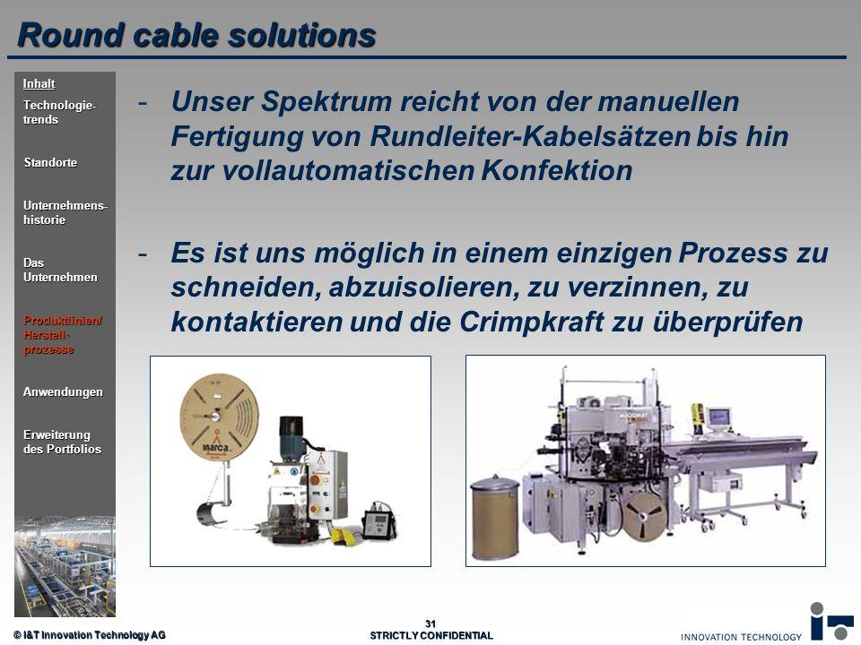Round cable solutions Inhalt. Technologie-trends. Standorte. Unternehmens-historie. Das Unternehmen.