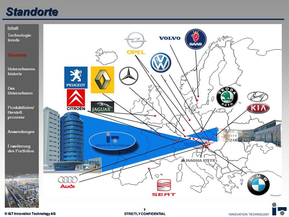 Standorte Inhalt Technologie-trends Standorte Unternehmens-historie