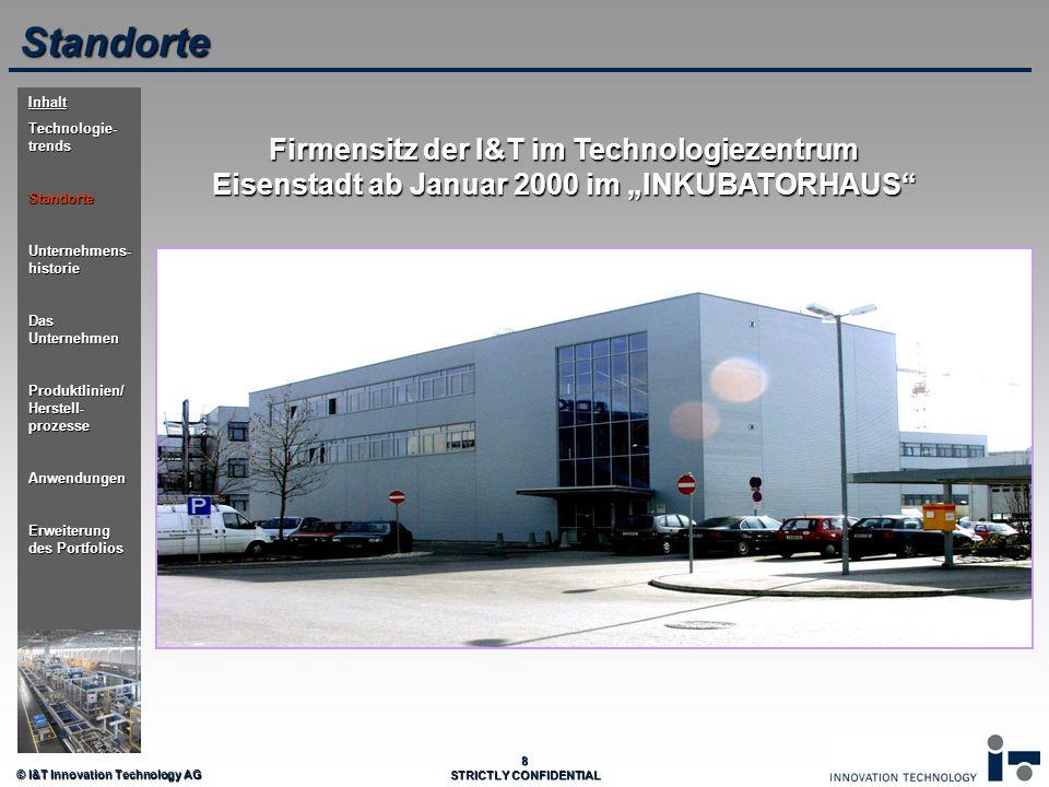 Standorte Inhalt. Technologie-trends. Standorte. Unternehmens-historie. Das Unternehmen. Produktlinien/ Herstell-prozesse.