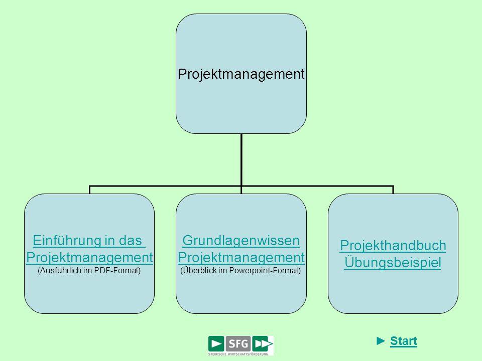 Projektmanagement Einführung in das Grundlagenwissen Projekthandbuch