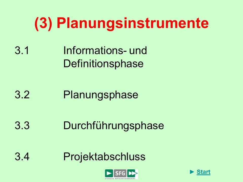 (3) Planungsinstrumente
