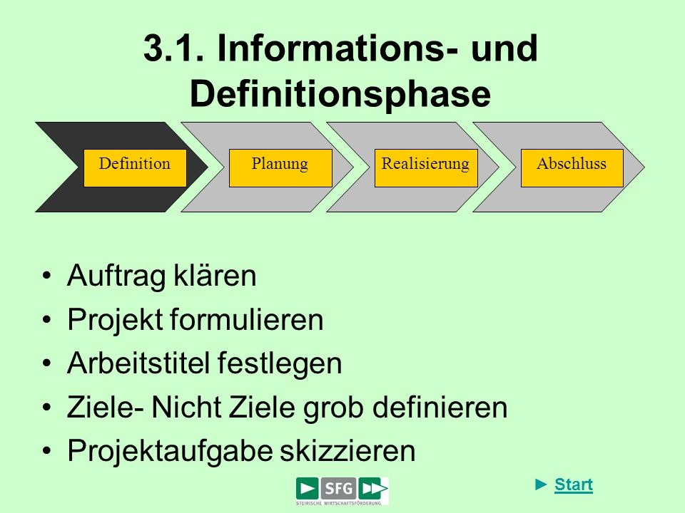3.1. Informations- und Definitionsphase