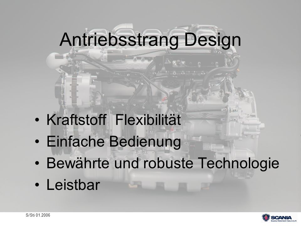 Antriebsstrang Design