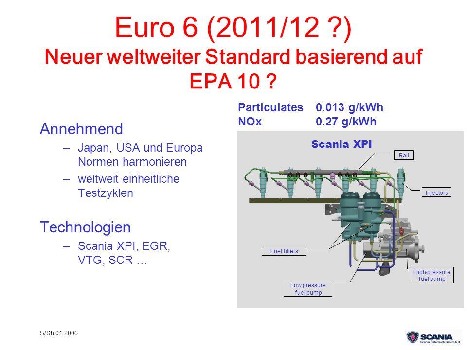 Euro 6 (2011/12 ) Neuer weltweiter Standard basierend auf EPA 10