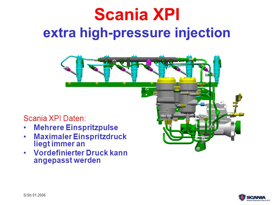 Scania XPI extra high-pressure injection
