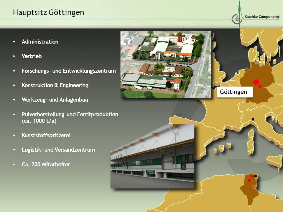 Hauptsitz Göttingen Göttingen Administration Vertrieb