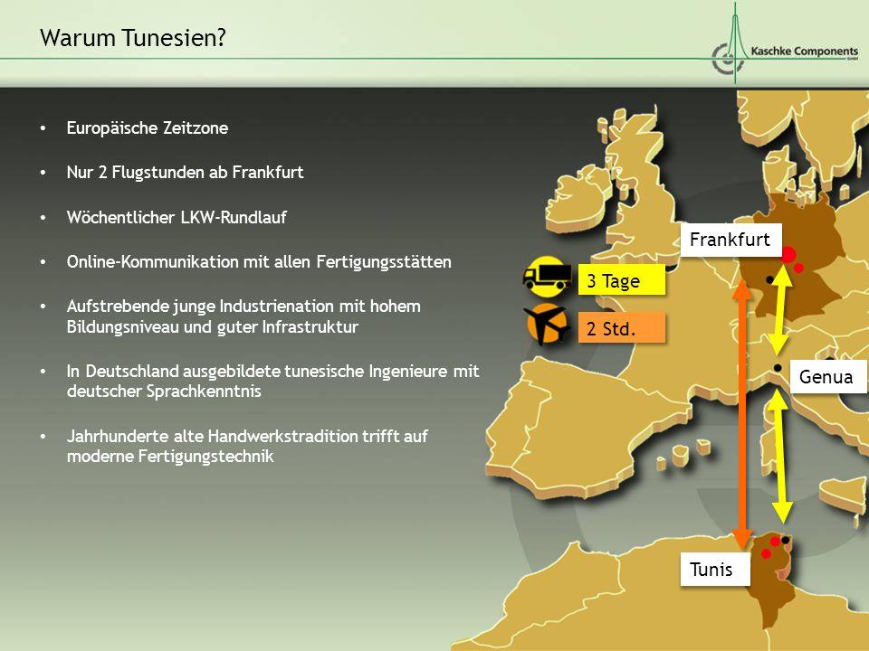 Warum Tunesien Frankfurt 3 Tage 2 Std. Genua Tunis