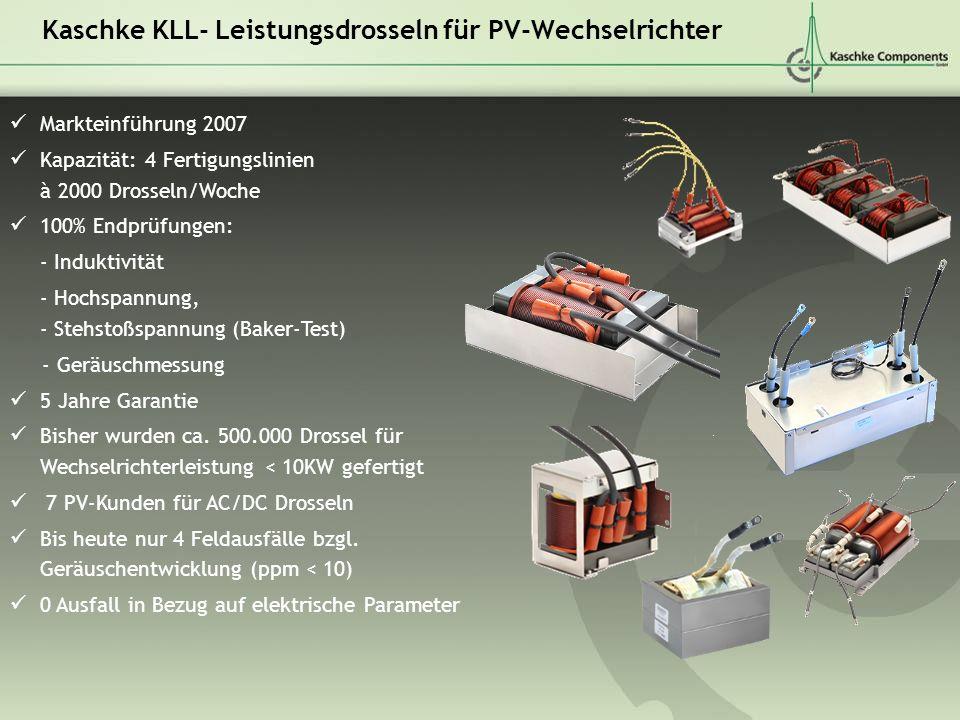 Kaschke KLL- Leistungsdrosseln für PV-Wechselrichter