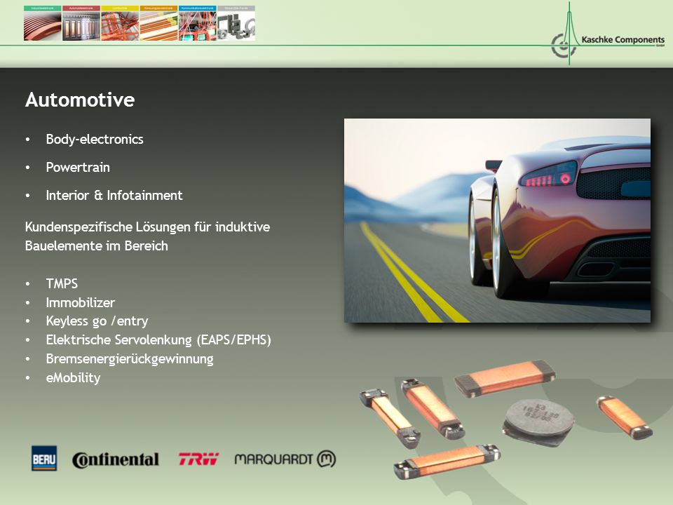 Automotive Body-electronics Powertrain Interior & Infotainment