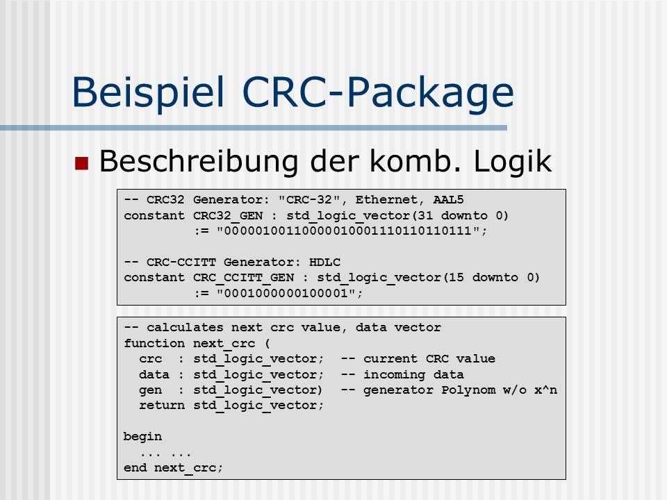 Beispiel CRC-Package Beschreibung der komb. Logik