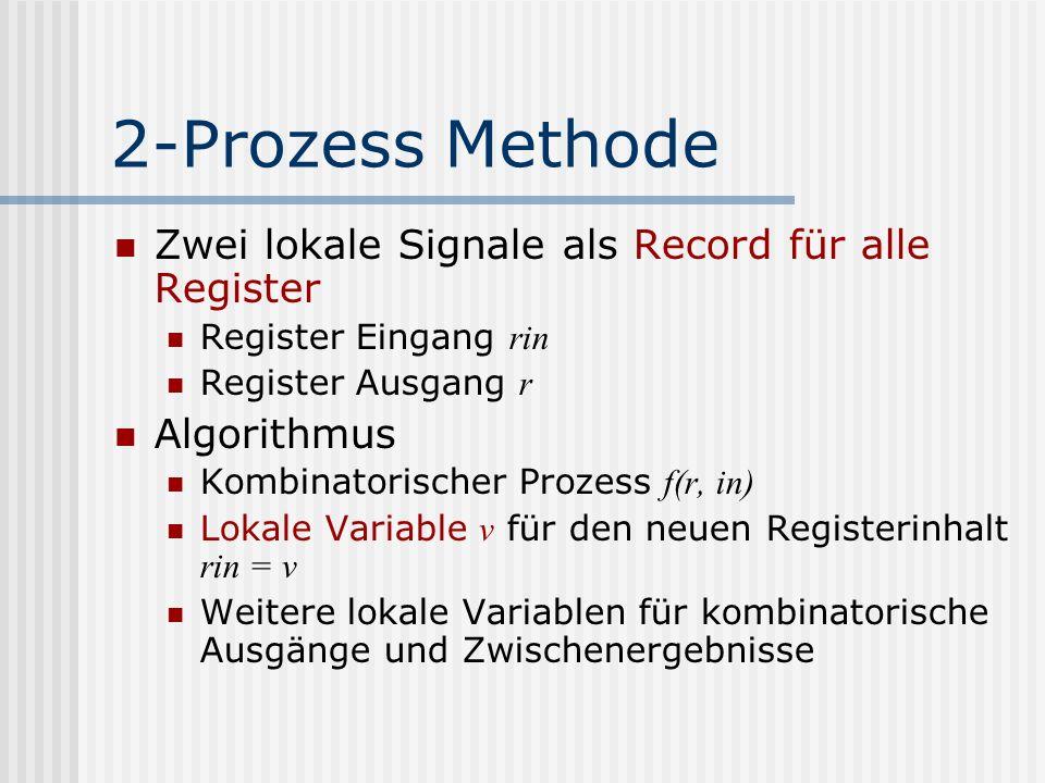 2-Prozess Methode Zwei lokale Signale als Record für alle Register