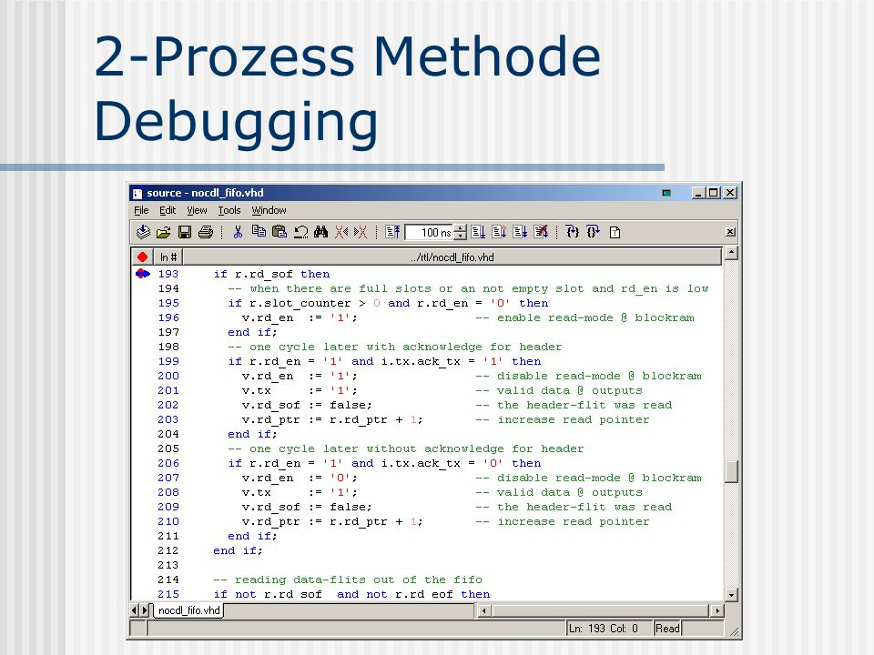2-Prozess Methode Debugging
