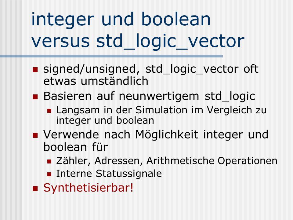 integer und boolean versus std_logic_vector