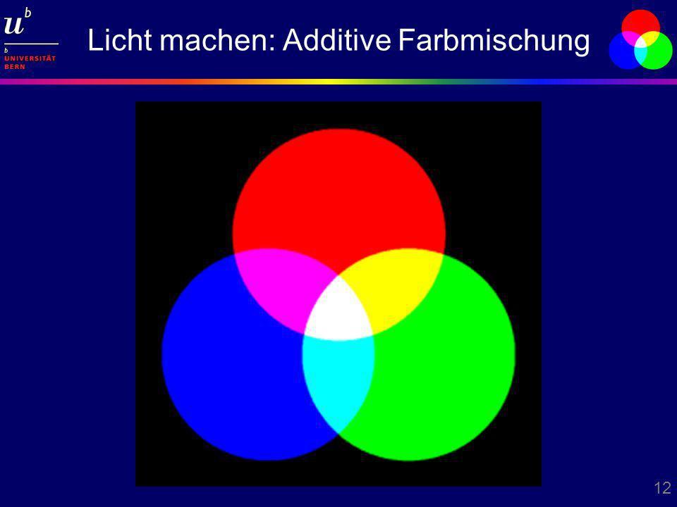 Licht machen: Additive Farbmischung