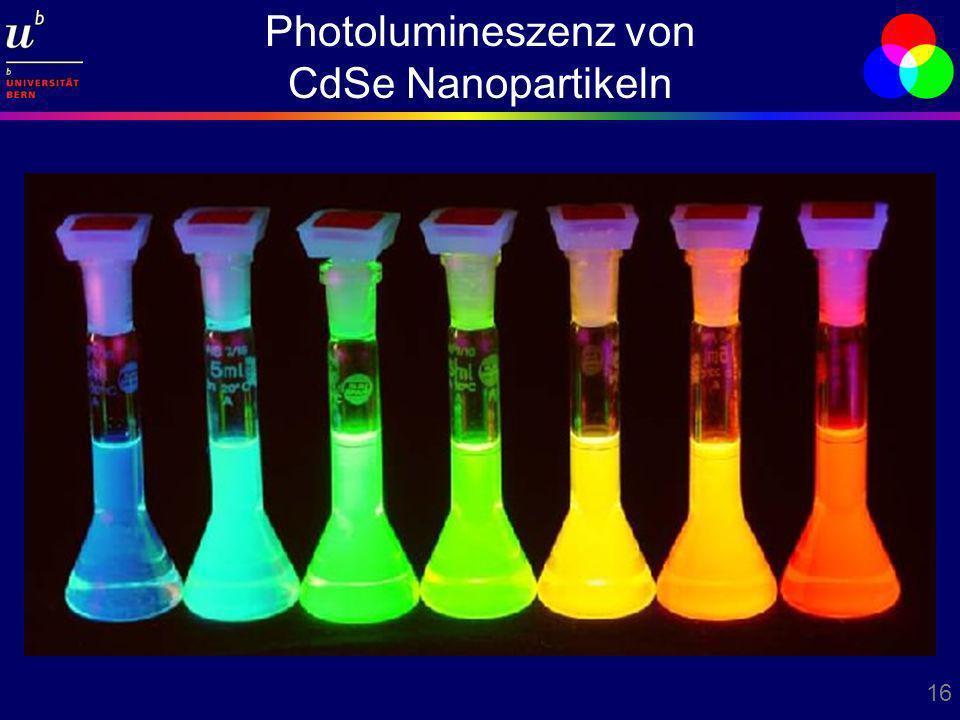 Photolumineszenz von CdSe Nanopartikeln