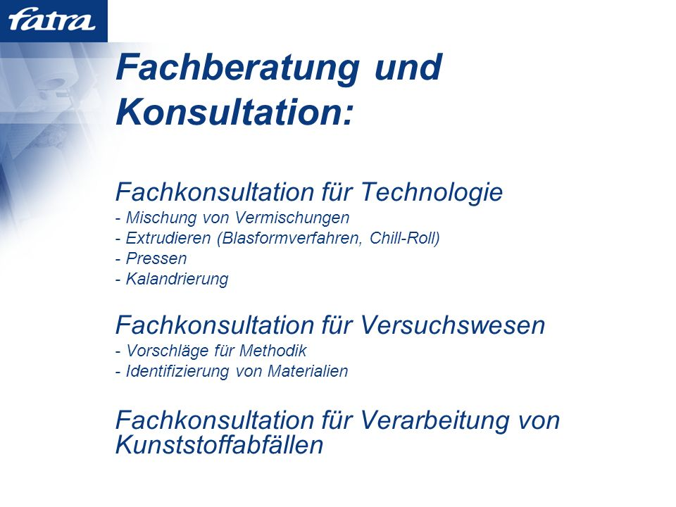 Fachberatung und Konsultation: