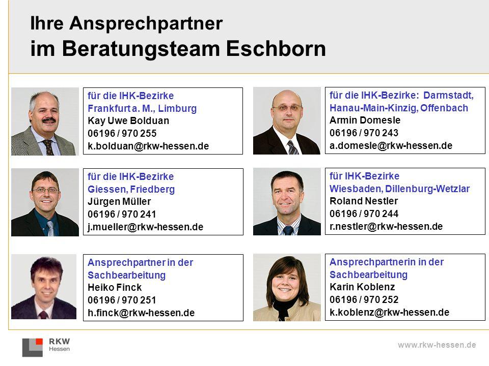 Ihre Ansprechpartner im Beratungsteam Eschborn