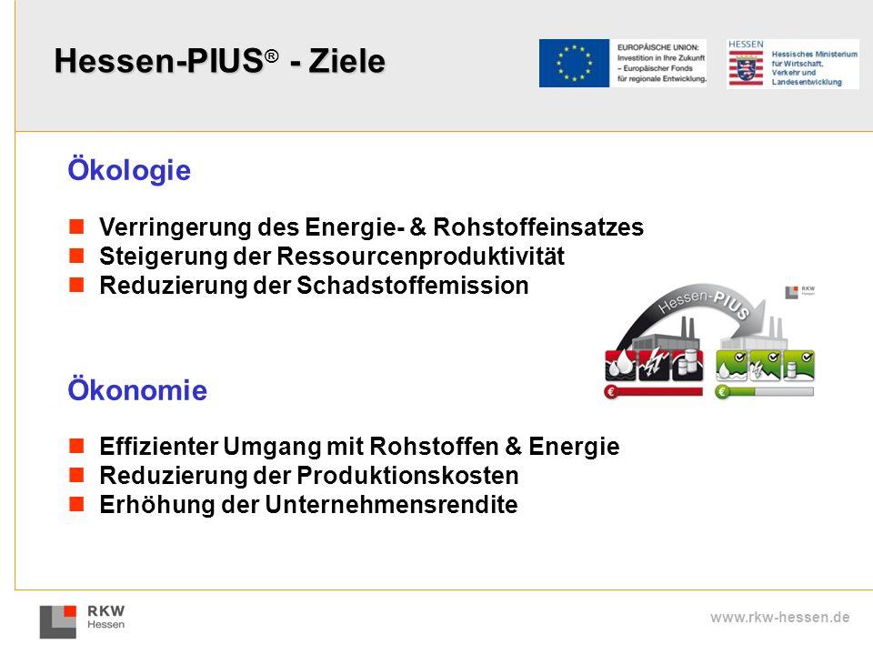 Hessen-PIUS® - Ziele Ökologie Ökonomie