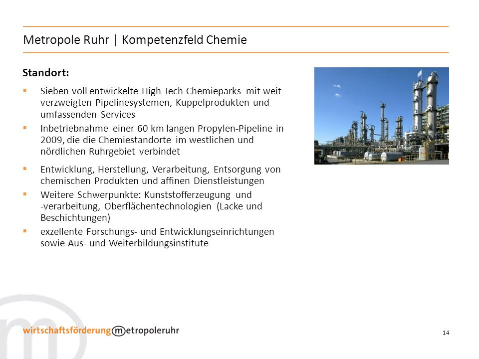 Metropole Ruhr | Kompetenzfeld Chemie