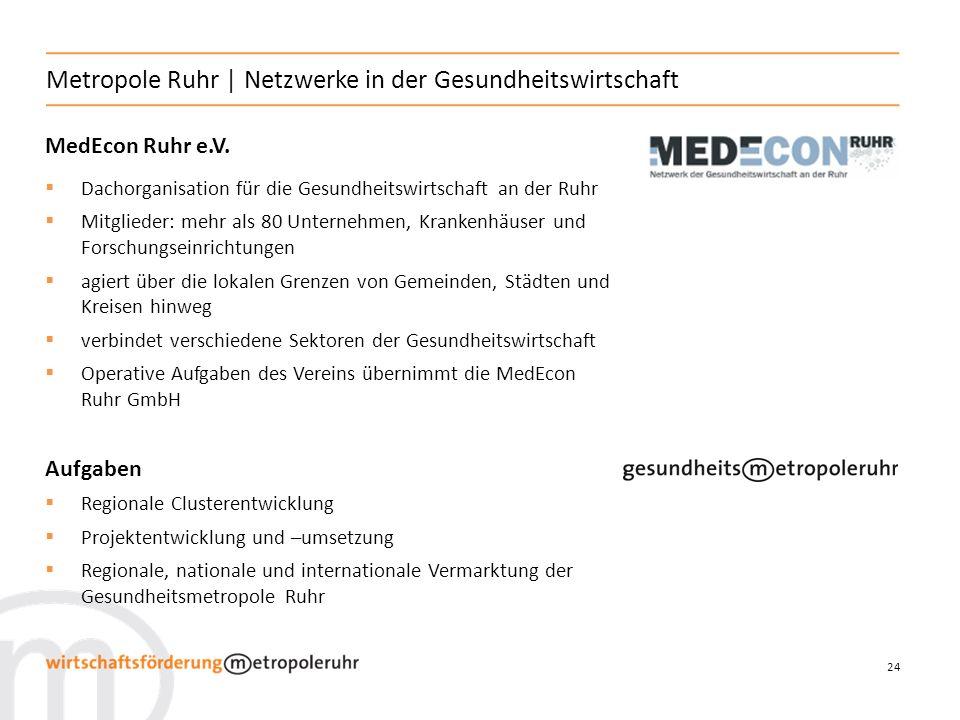 Metropole Ruhr | Netzwerke in der Gesundheitswirtschaft
