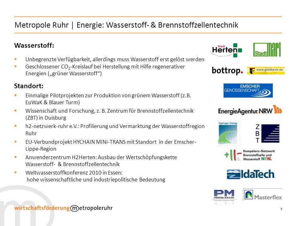Metropole Ruhr | Energie: Wasserstoff- & Brennstoffzellentechnik