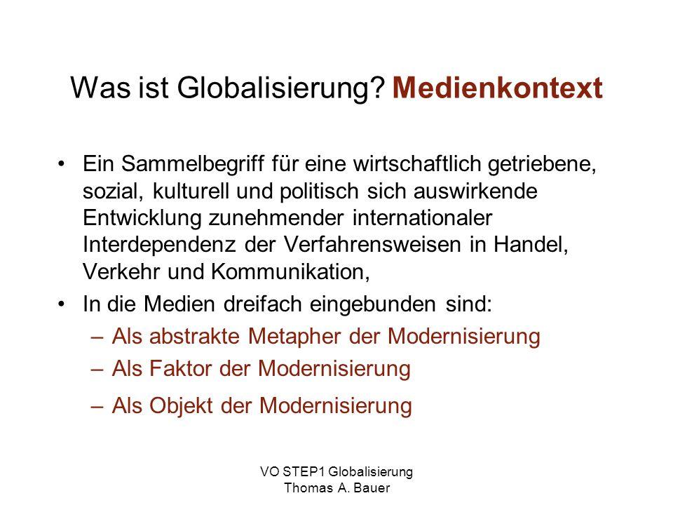 Was ist Globalisierung Medienkontext