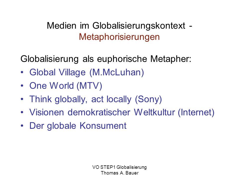 Medien im Globalisierungskontext - Metaphorisierungen