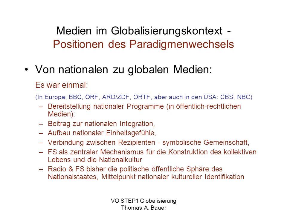 Medien im Globalisierungskontext - Positionen des Paradigmenwechsels