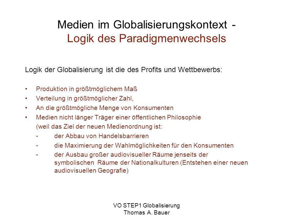 Medien im Globalisierungskontext - Logik des Paradigmenwechsels