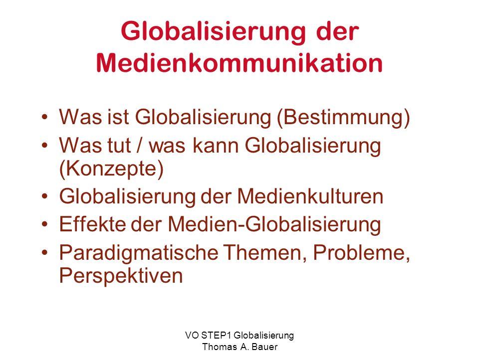 Globalisierung der Medienkommunikation