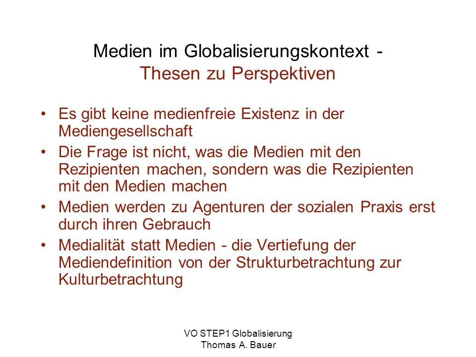 Medien im Globalisierungskontext - Thesen zu Perspektiven
