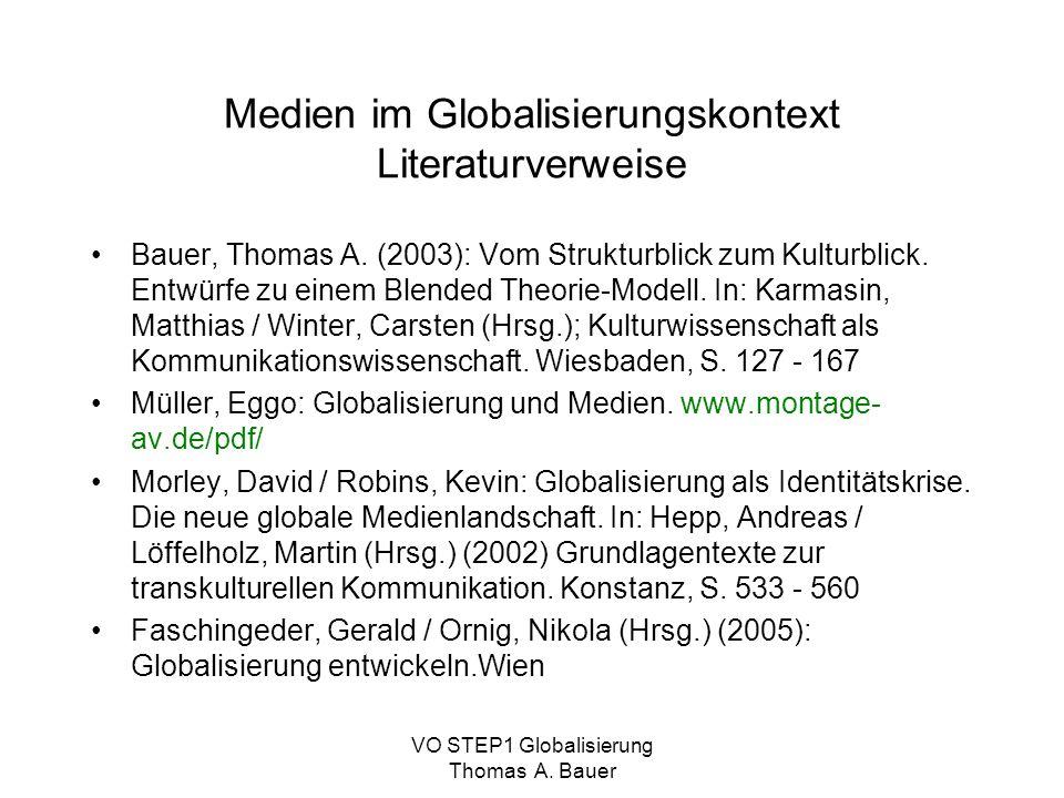 Medien im Globalisierungskontext Literaturverweise