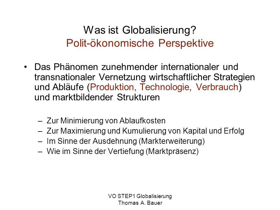 Was ist Globalisierung Polit-ökonomische Perspektive