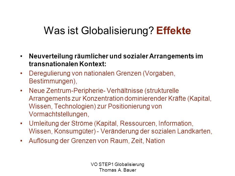 Was ist Globalisierung Effekte