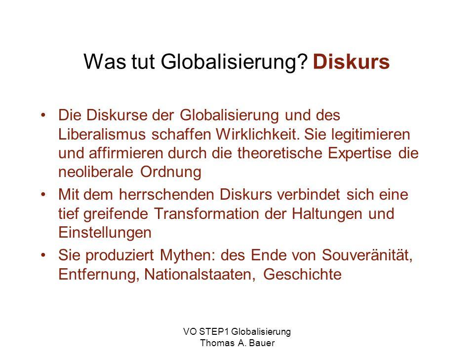 Was tut Globalisierung Diskurs