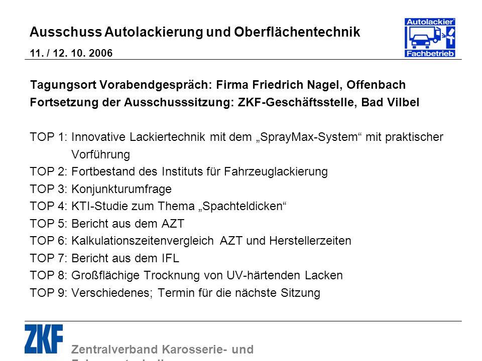 Tagungsort Vorabendgespräch: Firma Friedrich Nagel, Offenbach