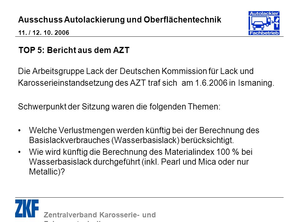 TOP 5: Bericht aus dem AZT