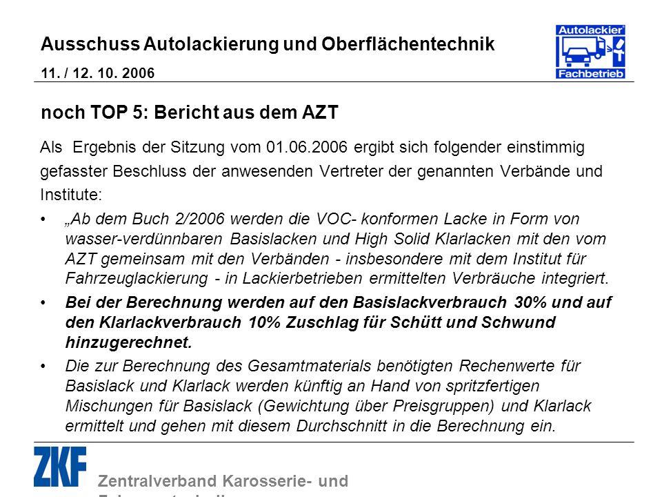 noch TOP 5: Bericht aus dem AZT