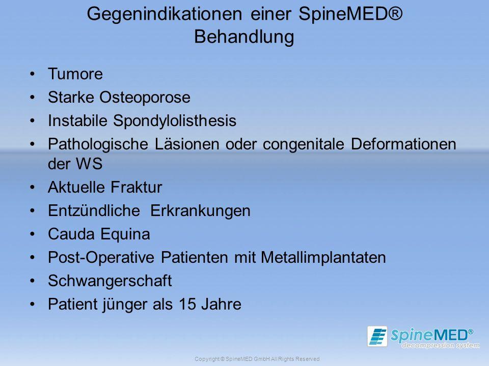 Gegenindikationen einer SpineMED® Behandlung