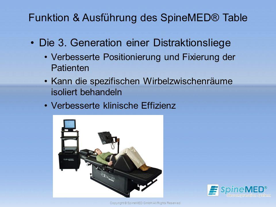 Funktion & Ausführung des SpineMED® Table