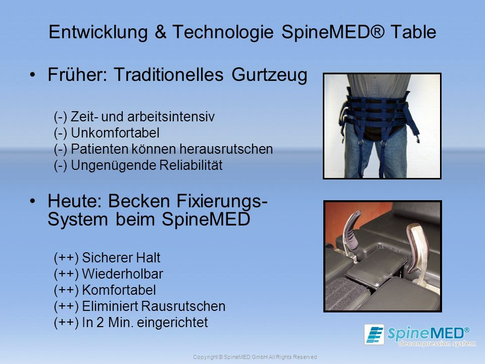 Entwicklung & Technologie SpineMED® Table