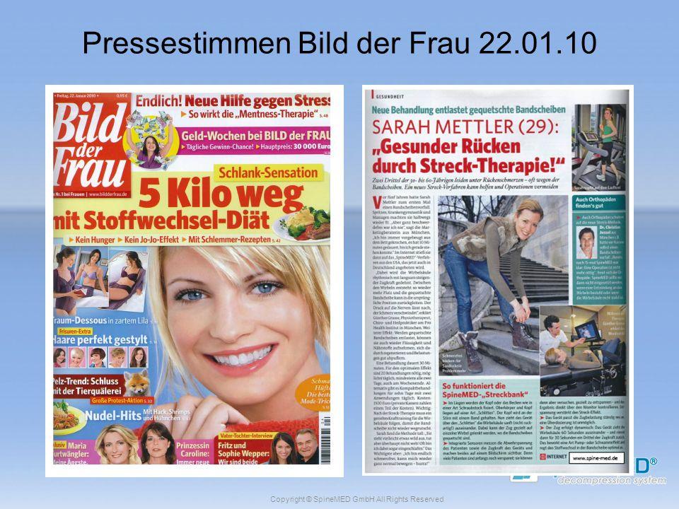 Pressestimmen Bild der Frau 22.01.10