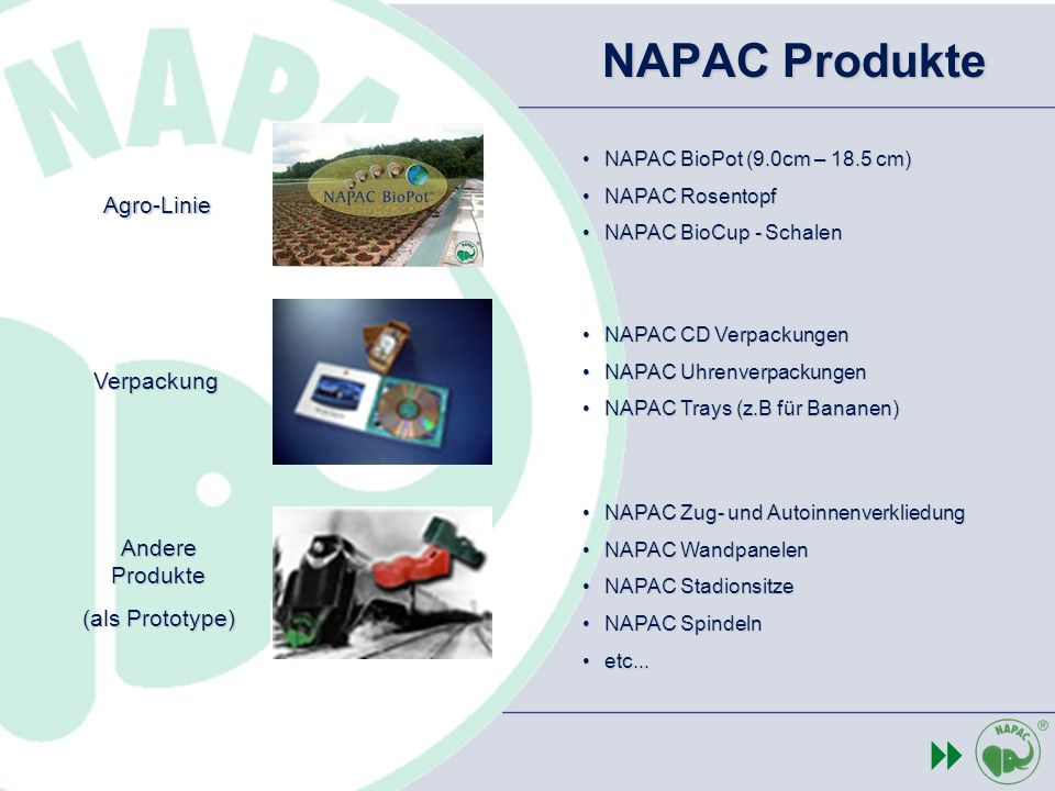 NAPAC Produkte 8 The Agro-Linie Verpackung Andere Produkte