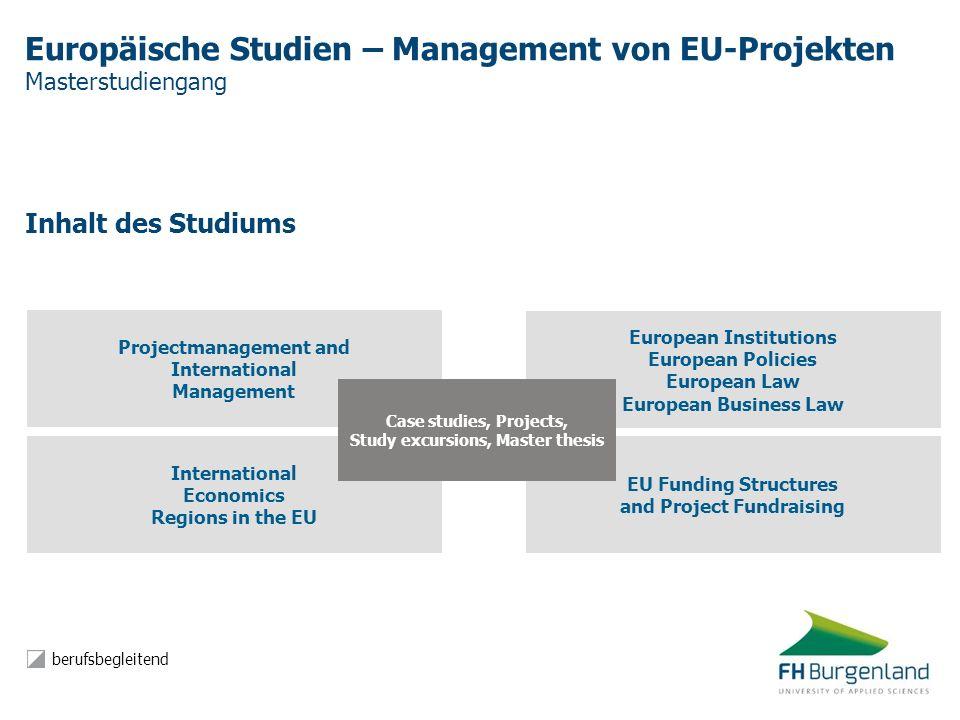 Europäische Studien – Management von EU-Projekten Masterstudiengang