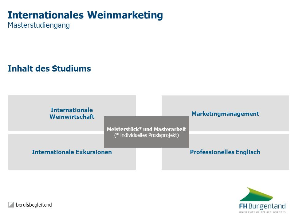 Internationales Weinmarketing Masterstudiengang