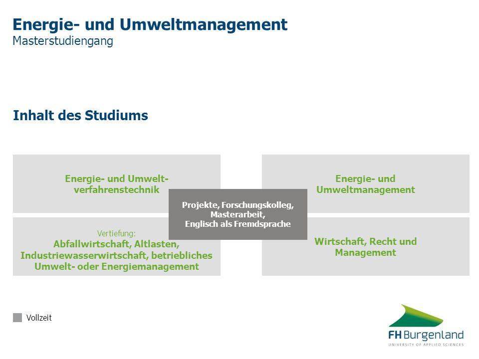 Energie- und Umweltmanagement Masterstudiengang