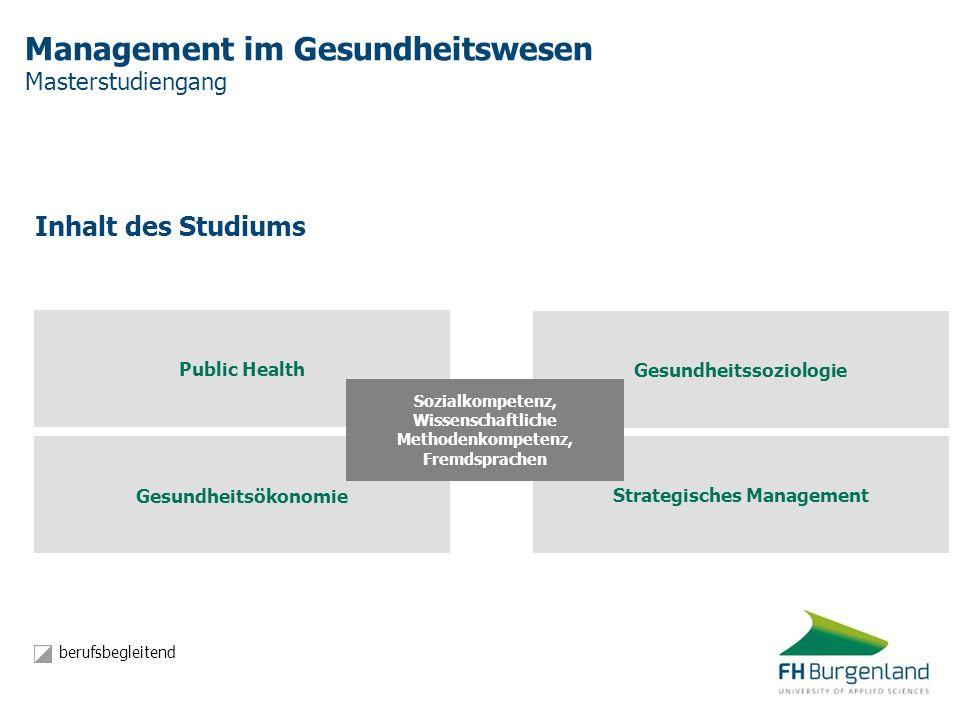 Management im Gesundheitswesen Masterstudiengang